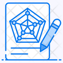 Radar Chart Pentagon Chart Radar Graph Icon