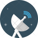 Radar Satellite Electric Icon