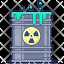 Radiation Radioactive Waste Nuclear Drum Icon