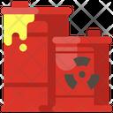Radiation Barrels Nuclear Barrels Biohazard Icon