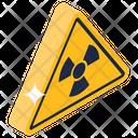 Radiation Warning Radiation Alert Radioactive Symbol Icon
