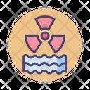 Radiation Wave Radioactive Danger Icon