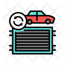 Radiator Replacement Color Icon