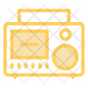 Cassette Radio Audiotape Icon