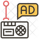 Radio Ad Advertise Icon