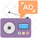 Radio Marketing Advertising Icon