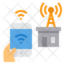 Radio Antena Smartphone Wifi Signal Icon