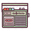 Radio Cassette Recorder Radio Music Icon
