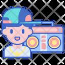 Radio Jockey Radio Host Radio Boy Icon