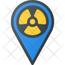 Radioactive Pin Geolocation Icon