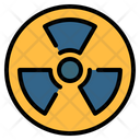 Radioactive Nuclear Sign Icon