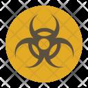 Radioactive Hazard Sign Icon