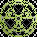 Radioactive Nuclear Radiation Icon