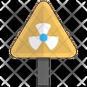 Radioactive Biohazard Radiation Sign Icon