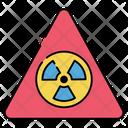Radioactive Caution Radiation Nuclear Caution Icon