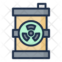 Radioactive Fuel Acid Rain Nuclear Icon