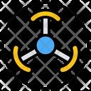 Radioactive Hazard Symbol Sign Icon