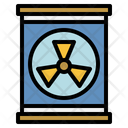 Radioactive Waste Climate Change Ecology And Environment Icon