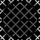 Radius Of Circle Icon