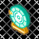 Lottery Wheel Isometric Icon