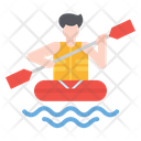 Rafting River Boat Icon