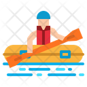 Rafting Kayak Sport Icon