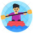 Boat Rafting Boating Rowing Icon