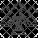 Rail Track Underground Mine Icon