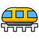 Rail Transportation Subway Electric Train Icon