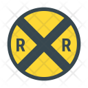 Railroad Crossing Icon