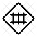 Railroad Crossing Gate Barrier Icon