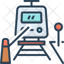 Railway Crossing Train Barrier Railroad Barrier Icon