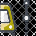 Tram Segment Path Navigation Icon