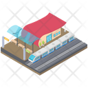 Railway Station Transport Subway Train Train Station Icon