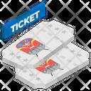 Railway Ticket Vouchers Travel Pass Icon