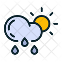 Rainfall Drizzle Sun Icon
