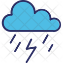 Cloud Lightning Rain Storm Icon