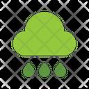 Rain Cloud Greenery Icon