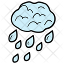 Weather Rain Water Droplets Icon