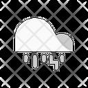 Cloud Rainy Lightning Icon