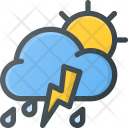 Rain Thunder Forcast Icon