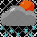 Cloud Rain Raindrops Icon