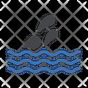 Rain Sea Waves Icon