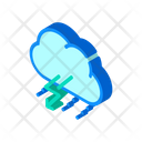 Rain Thunderstorm Lightning Icon