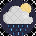 Rain Moon Cloud Icon