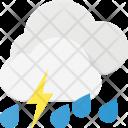 Storm Rain Thunder Icon