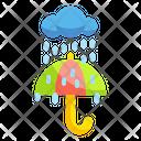 Rain Umbrella Protect Icon