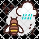 Rain Bees Weather Icon