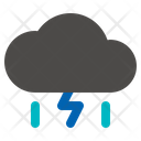 Rain Thunderstorm Rainy Icon