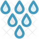 Rain Drops Water Icon
